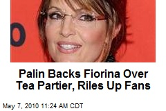Sarah Palin Endorses Carly Fiorina for California Senate