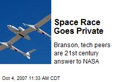 Space Race Goes Private