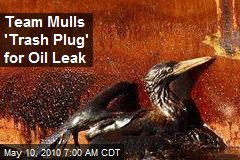 Team Mulls 'Trash Plug' for Oil Leak