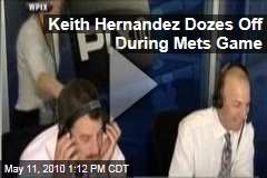 Keith Hernandez Dozes Off During Mets Game