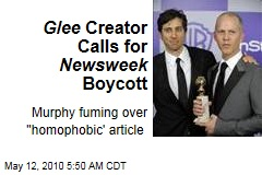 Glee Creator Calls for Newsweek Boycott