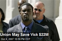 Union May Save Vick $22M