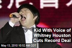 Kid With Voice of Whitney Houston Cuts Record Deal