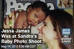 Jesse James Was at Sandra's Baby Photo Shoot