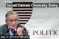 Israel Denies Chomsky Entry