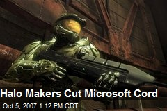 Halo Makers Cut Microsoft Cord