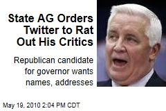 State AG Orders Twitter to Rat Out His Critics