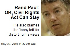 Rand Paul: OK, Civil Rights Act Can Stay