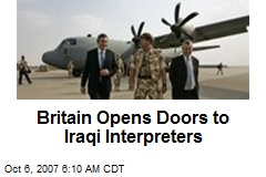 Britain Opens Doors to Iraqi Interpreters