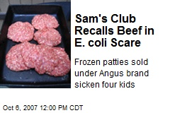 Sam's Club Recalls Beef in E. coli Scare