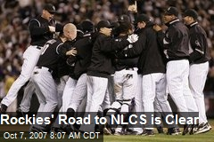Rockies' Road to NLCS is Clear