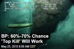 BP: 60%-70% Chance 'Top Kill' Will Work