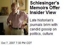 Schlesinger's Memoirs Offer Insider View