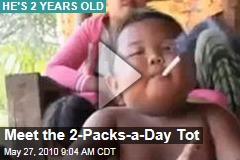 Meet the 2-Packs-a-Day Tot