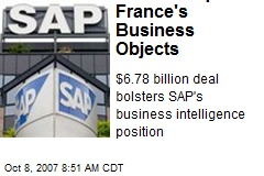 SAP to Acquire France's Business Objects