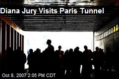 Diana Jury Visits Paris Tunnel