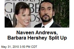 Naveen Andrews, Barbara Hershey Split Up