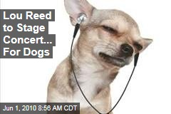 Lou Reed to Stage Concert... For Dogs