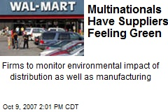Multinationals Have Suppliers Feeling Green