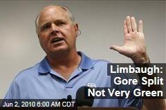 Limbaugh: Gore Split Not Very Green