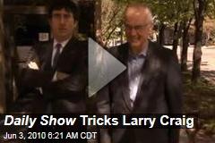 Daily Show Tricks Larry Craig