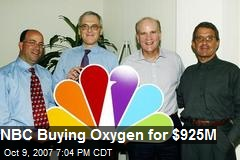 NBC Buying Oxygen for $925M