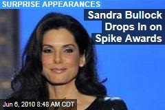 Sandra Bullock Drops In on Spike Awards