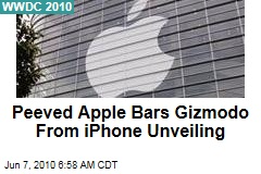 Peeved Apple Bars Gizmodo From iPhone Unveiling