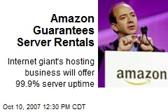 Amazon Guarantees Server Rentals