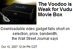 The Voodoo is Weak for Vudu Movie Box