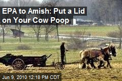 EPA to Amish: Put a Lid on Your Cow Poop