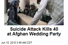 Suicide Attack Kills 40 at Afghan Wedding Party
