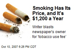 Smoking Has Its Price, and It's $1,200 a Year