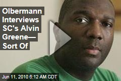 Olbermann Interviews SC's Alvin Greene— Sort Of