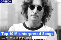 Top 10 Misinterpreted Songs