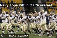 Navy Tops Pitt in OT Scorefest