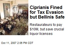 Ciprianis Fined for Tax Evasion but Bellinis Safe