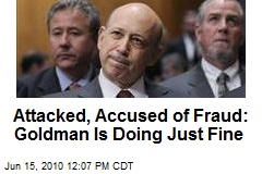 Attacked, Accused of Fraud: Goldman Is Doing Just Fine