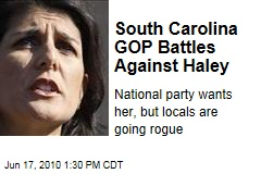 South Carolina GOP Battles Against Haley
