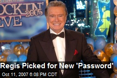 Regis Picked for New 'Password'