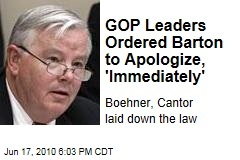 GOP Leaders Ordered Barton to Apologize, 'Immediately'