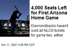 4,000 Seats Left for First Arizona Home Game
