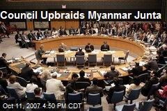 Council Upbraids Myanmar Junta