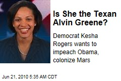 Is She the Texan Alvin Greene?