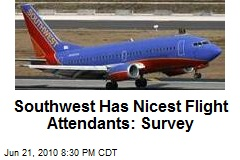Southwest Has Nicest Flight Attendants: Survey