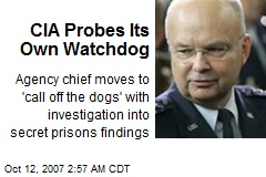 CIA Probes Its Own Watchdog
