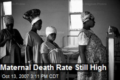 Maternal Death Rate Still High