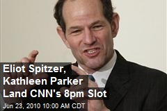 Eliot Spitzer, Kathleen Parker Land CNN's 8pm Slot