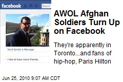 AWOL Afghan Soldiers Turn Up on Facebook