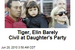 Tiger, Elin Barely Civil at Daughter's Party